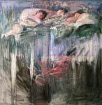 Familia, 2005 Óleo y alquídico sobre tabla, 160 x 160 cm