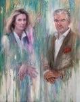 Retrato de los CondesLelia y Karl Khevenhueller von Metsch, 2011 Óleo y Alquídico sobre tela 55 x 80 cm