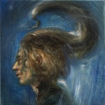 Necia palabra, 2014 Óleo y alquídico sobre lienzo, 60 x 50 cm