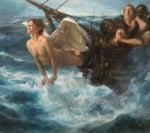 Mascarón de proa 2, 2016 Óleo y alquídico sobre lienzo, 146  x 130 cm