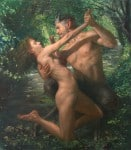 Pan y Siringa, 2016 Óleo y alquídico sobre lienzo, 81 x 92 cm